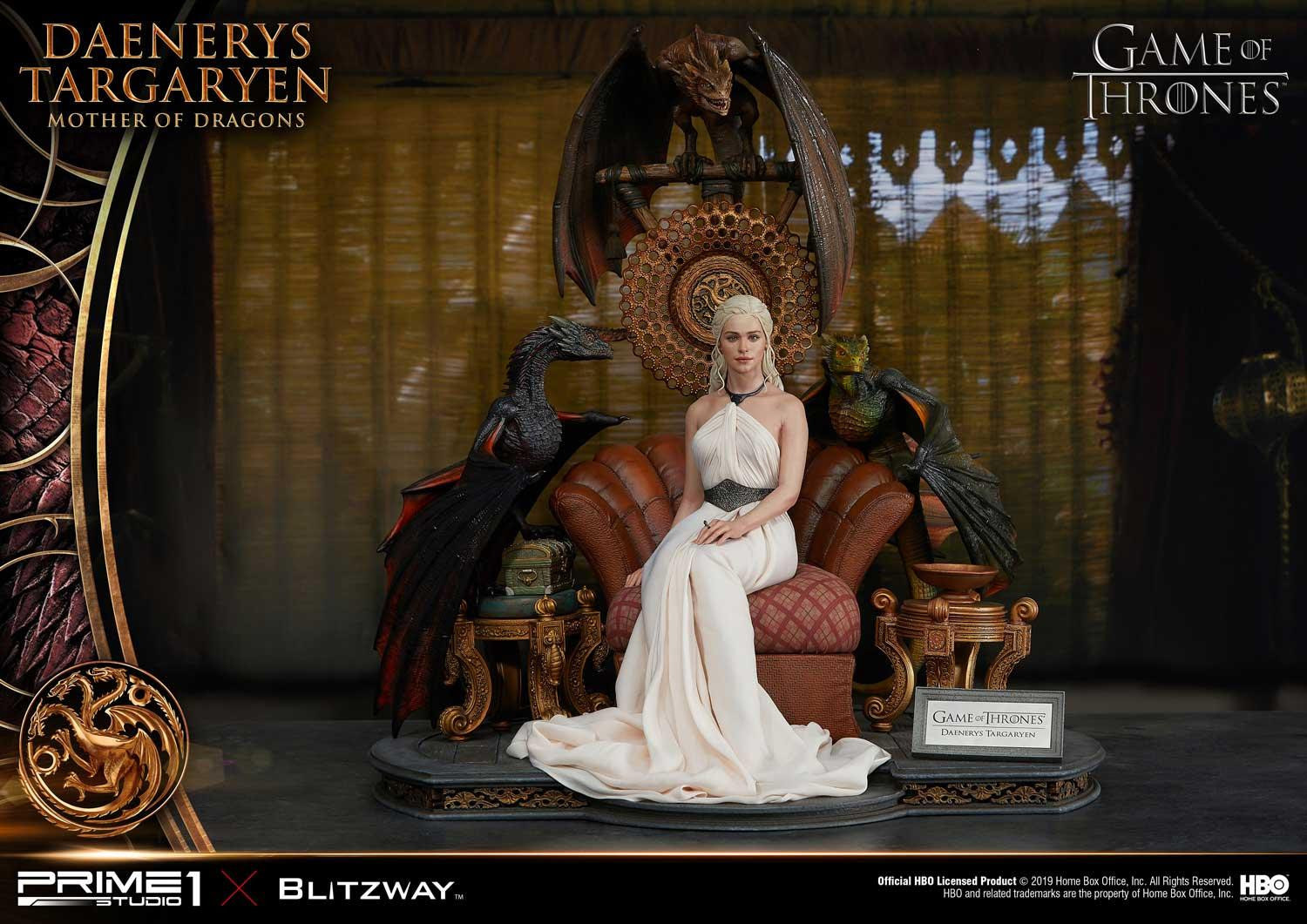 Daenerys Targaryen is the Mother of Dragons in the New Team-Up Statue