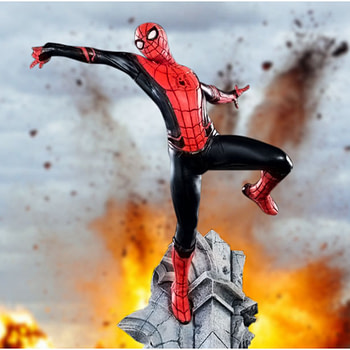 Spider-Man is Far from Home and Gets His Own Iron Studios Statue