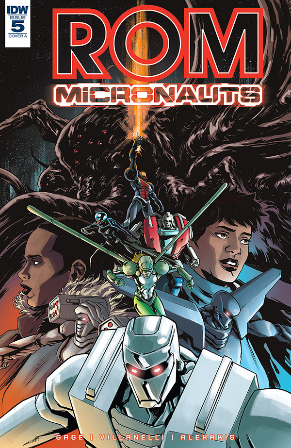 Rom and the Micronauts #5 cover by Paolo Villanelli