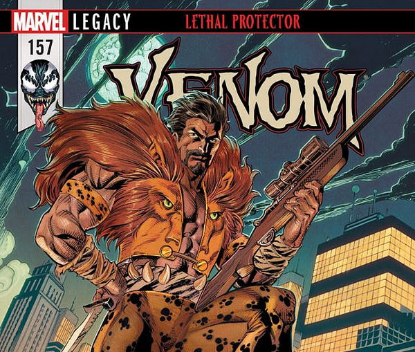 Venom #157 cover by Mark Bagley, John Dell, and John Rauch