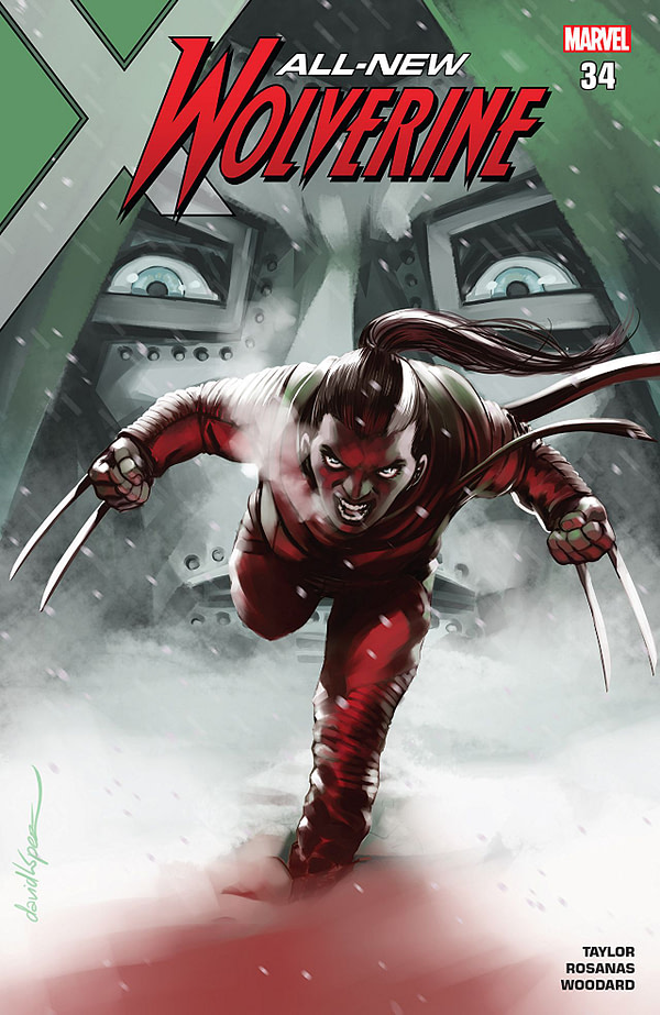 All-New Wolverine #34 cover by David Lopez