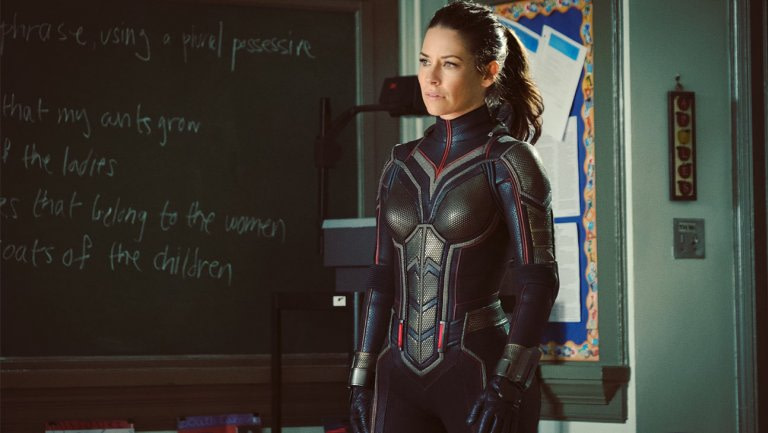 Evangelyne Lily - Boob Armor costume in Ant Man and the Wasp