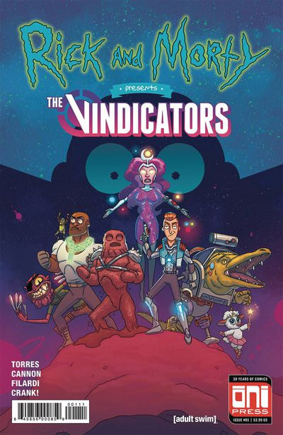 Rick and Morty Presents the Vindicators #1 cover by CJ Cannon and Nick Filardi