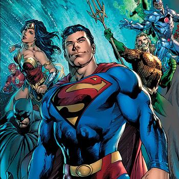 The Man of Steel #1 cover by Ivan Reis, Joe Prado, and Alex Sinclair