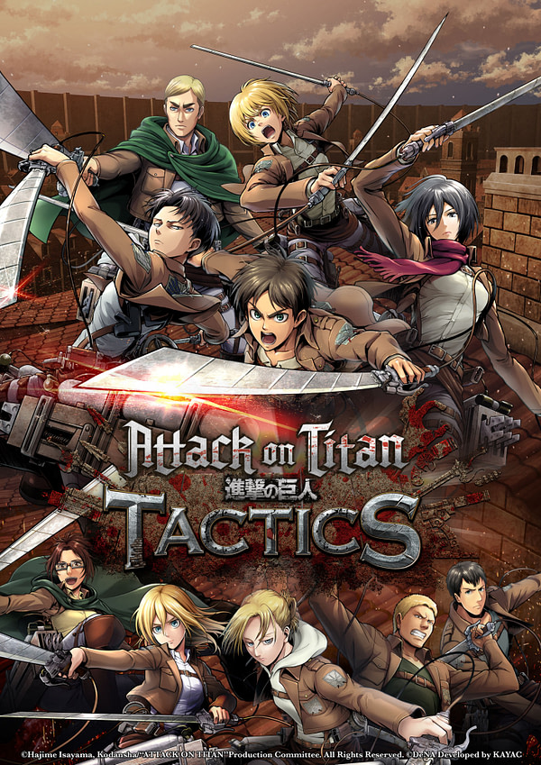 DeNA Games Announces a Western Release for Attack on Titan Tactics