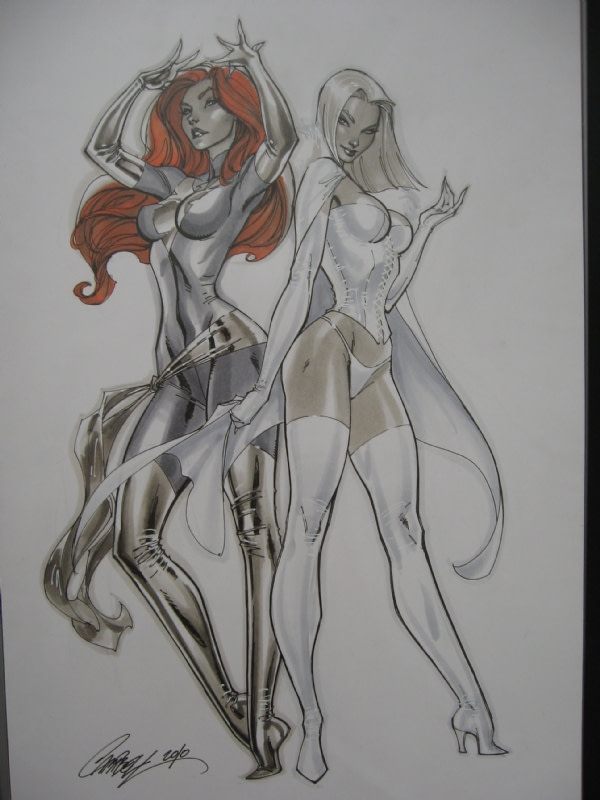 Marvel and DC Comics Retailer Exclusive Variant Covers - Will J Scott Campbell Do One For Emma Frost & Jean Grey?