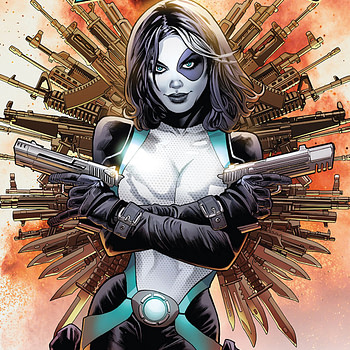 Domino #2 cover by Greg Land and Frank D'Armata
