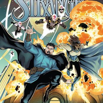 Doctor Strange #4 cover by Jesus Saiz
