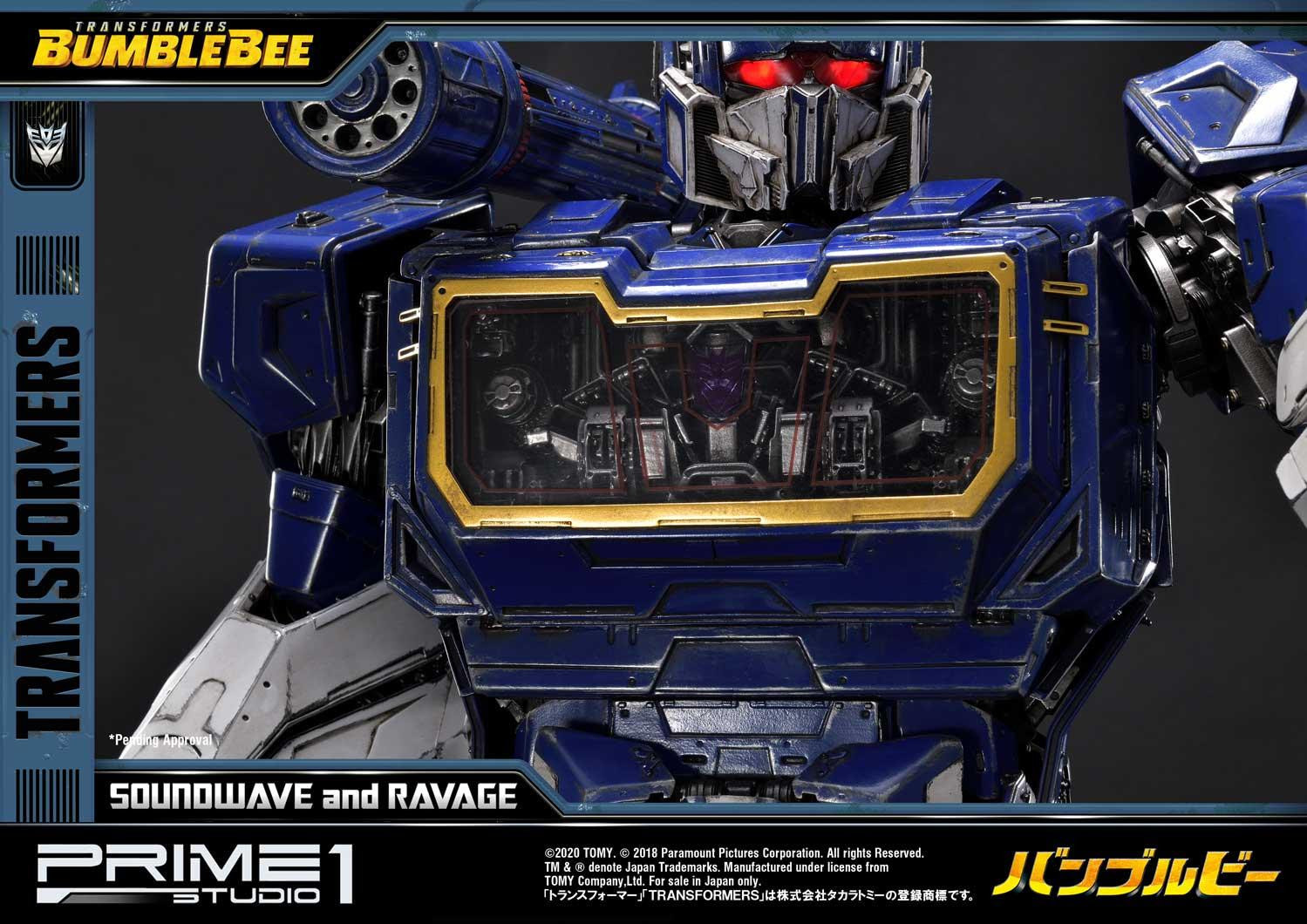 Transformers Soundwave and Ravage Get Expensive with Prime 1 Studio