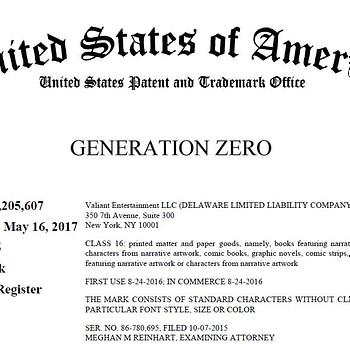 Will Valiant Sue DC Comics Over Generation Zero Trademark?