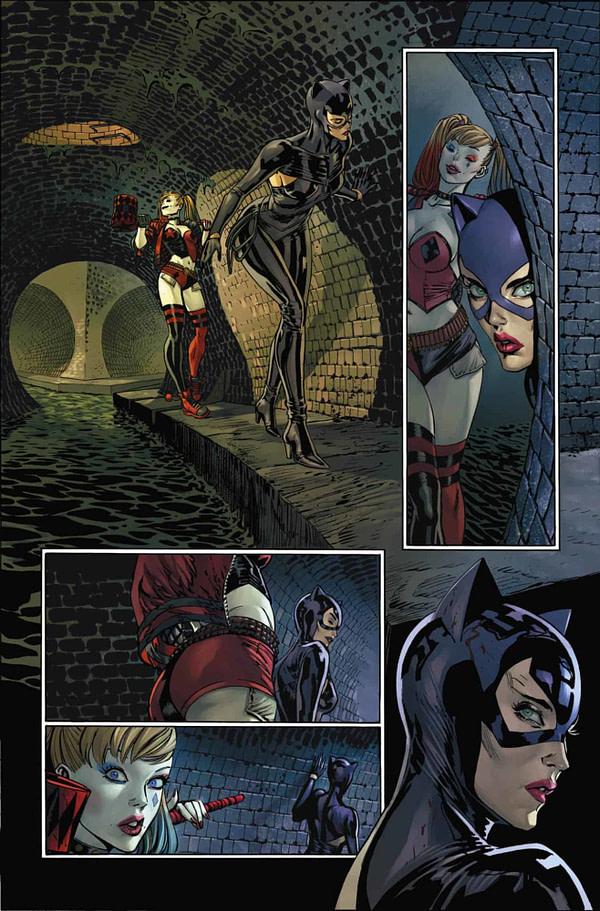 Batman #92, Harley Quinn and Catwoman, interior page