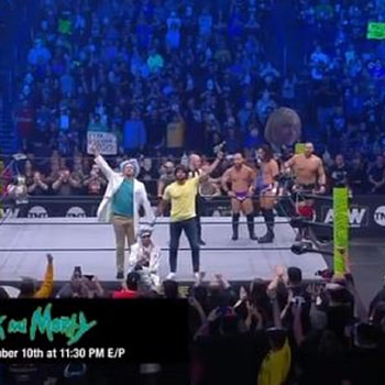 """Rick and Morty"" Turn ""Hype Men"" for AEW's Best Friends, Orange Cassidy"