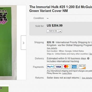 All-Green Immortal Hulk Sells For Up to $250