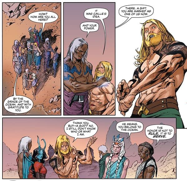 How Aquaman Got His New Tattoos