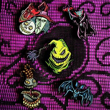 Mondo will release 4 new Nightmare Before Christmas enamel pins. Credit Mondo
