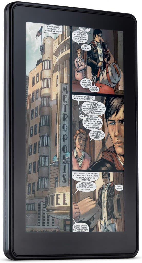 DC Comics Gets Into Bed With The Amazon Kindle Fire