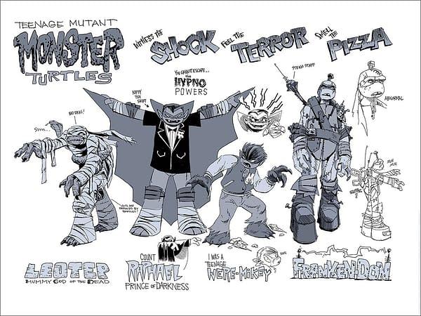 TMNT Monster Turtles Mondo Poster Ciro Nieli