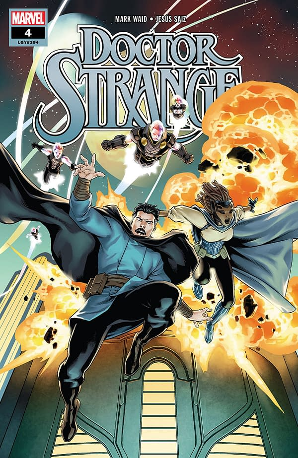 Doctor Strange #4 cover by Jesus Saiz