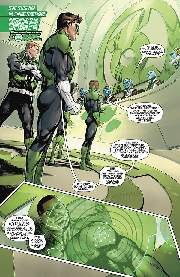 Hal Jordan and the Green Lantern Corps #43 art by Rafa Sandoval, Jordi Tarragona, and Tomeu Morey