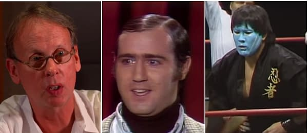 WWE HOF potential inductees Jim Johnston, Andy Kaufman, and The Great Muta.