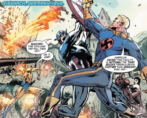 Captain America Always Knew How to Treat a Nazi (Invaders #6 Preview)