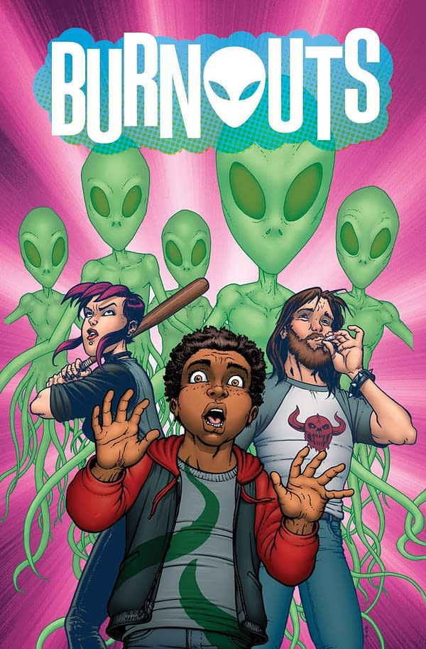 Let's Come Up with an Alternative Name for Burnouts, a New Drugs'N'Aliens Comic by Dennis Culver and Geoffo from Image