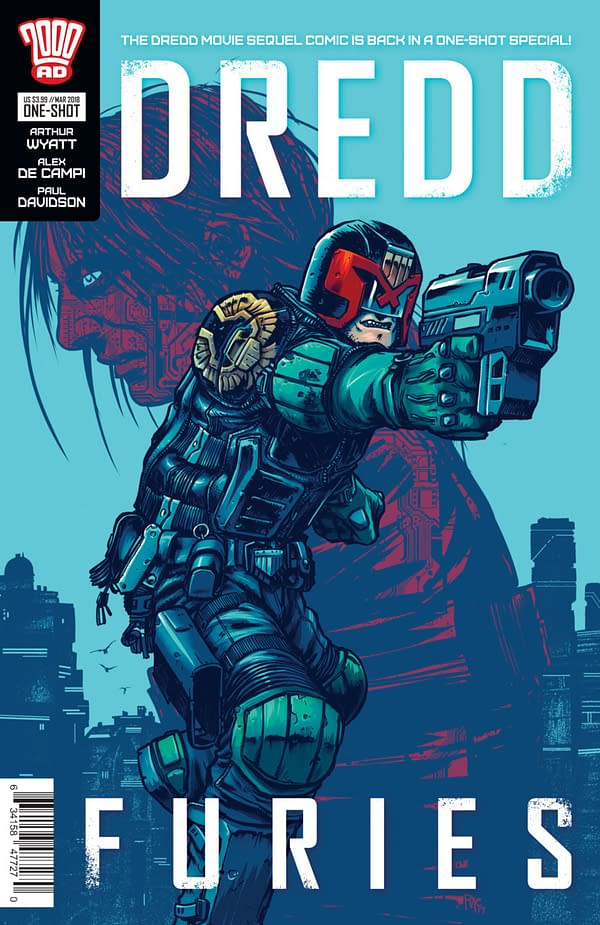 Dredd Furies #1 cover by Simon Parr