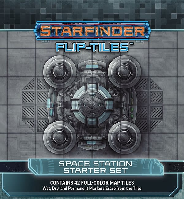 Paizo's Space Station Starter Set for use with Starfinder's Flip-Tile terrain system.