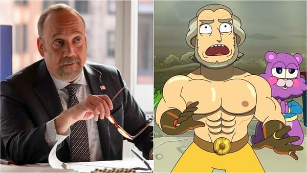 Rick, Morty, Funko and Paul Giamatti in The Daily LITG 22nd May 2020.