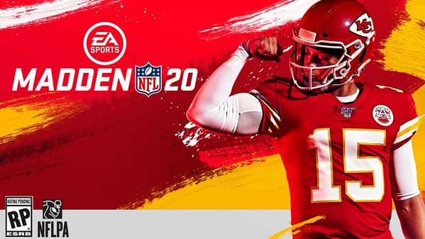 Patrick Mahomes as the cover athlete for Madden NFL 20.