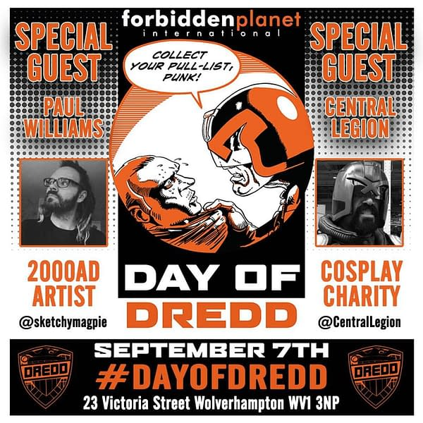 Tomorrow is The Day Of Dredd Across The World