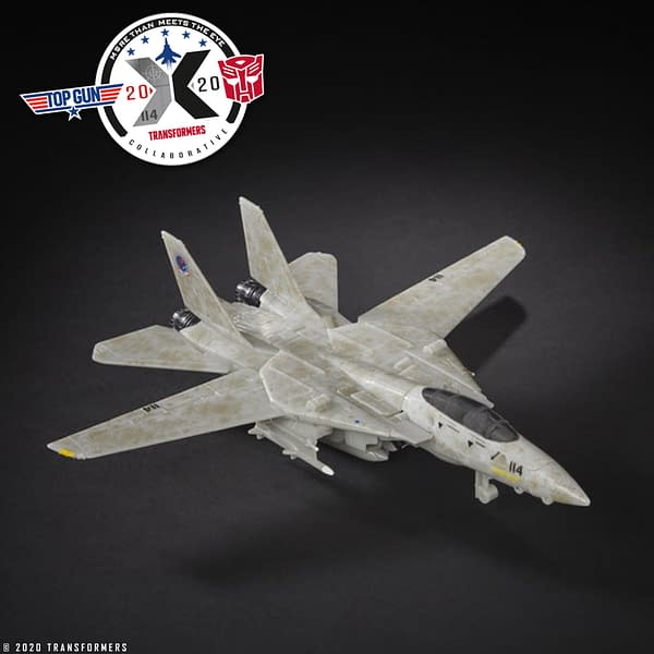 Transformers and Top Gun Crossover for Maverick Autobot from Hasbro