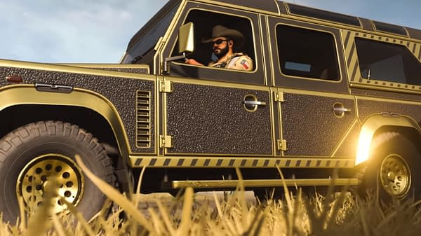 What Warzone expert wouldn't want their truck covered in gold? Courtesy of Activision.