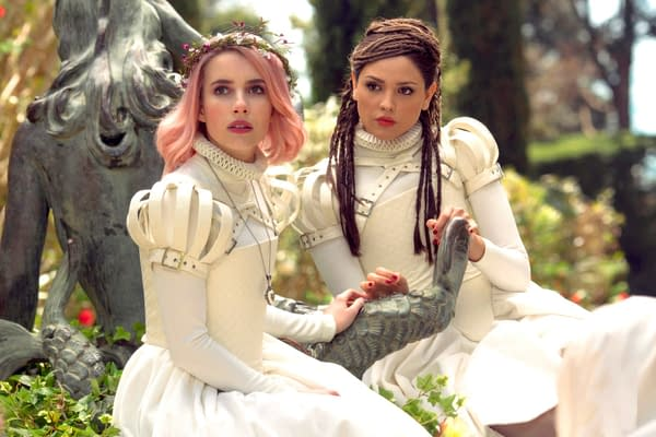 Emma Roberts and Eiza Gonzalez appear in Paradise Hills. | photo by Manolo Pavn