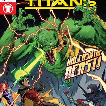 Teen Titans #19 cover by Dan Mora