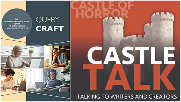 Cover of Query Craft and the logo of the Castle Talk Podcast, used by permission