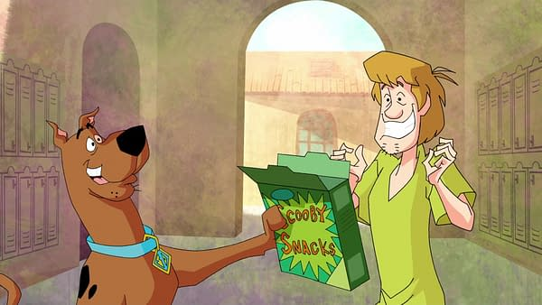 Shaggy and Scoobs enjoy some Scooby Snacks, courtesy of Boomerang.