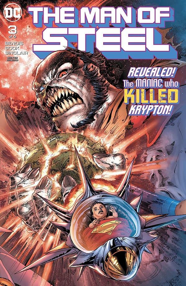 Man of Steel #3 cover by Ivan Reis, Joe Prado, and Alex Sinclairs