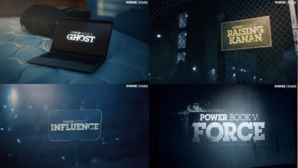 Here's a look at the four Power spinoff series, courtesy of STARZ.