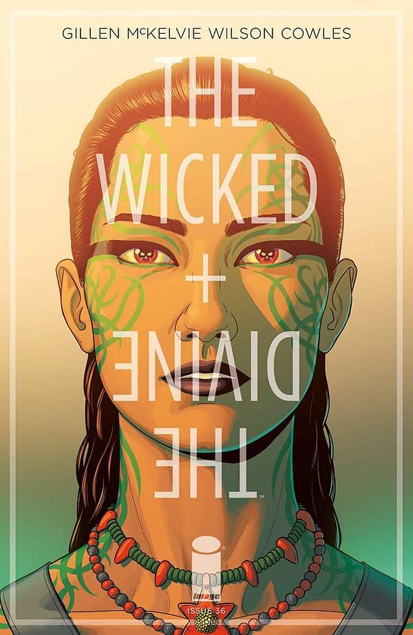 Wicked + Divine #36 cover by Jamie McKelvie and Matt Wilson
