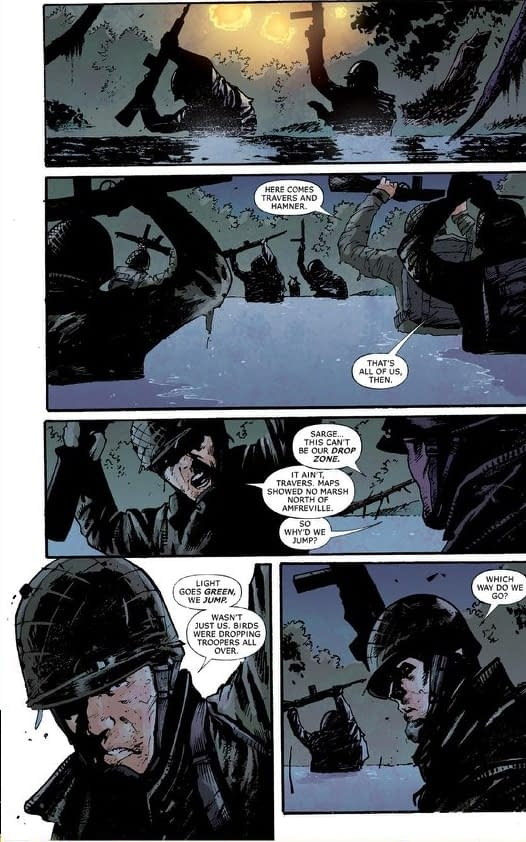 Lettered Preview to Robert Venditti,Kevin Maurer and Andrea Mutti's Six Days from DC Vertigo