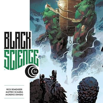Black Science #36 cover by Matteo Scalera and Moreno Dinisio