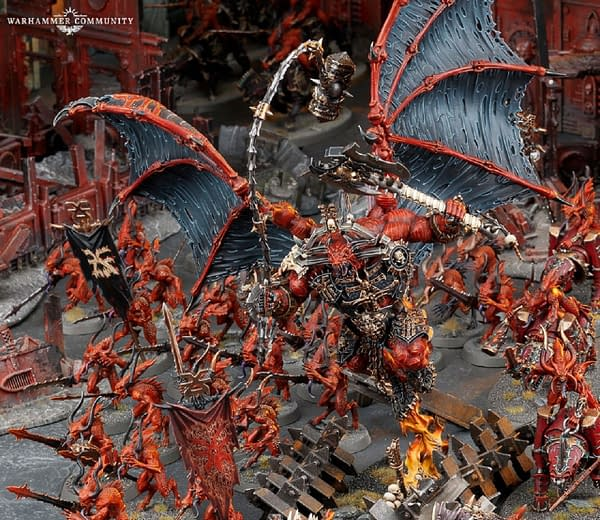 A snapshot of the Daemons of Khorne army in Warhammer 40,000 by Games Workshop.