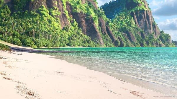The beach from Moana.