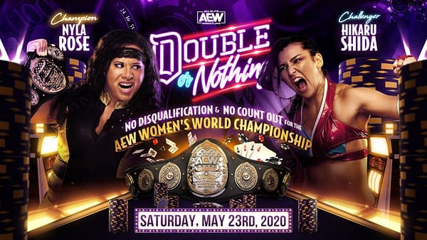 AEW Double or Nothing Women's Title Match Finds Hikaru Shida Vs. Nyla Rose (image: AEW)