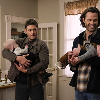 "Supernatural -- ""The Heroes' Journey"" -- Image Number: SN1510a_0079bc.jpg -- Pictured (L-R): Jensen Ackles as Dean and Jared Padalecki as Sam -- Photo: Bettina Strauss/The CW -- © 2020 The CW Network, LLC. All Rights Reserved."