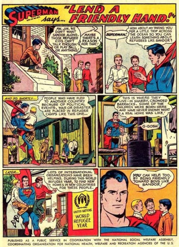 DC Comics Urges Readers to Be Like Superman and #StandWithRefugees... Again