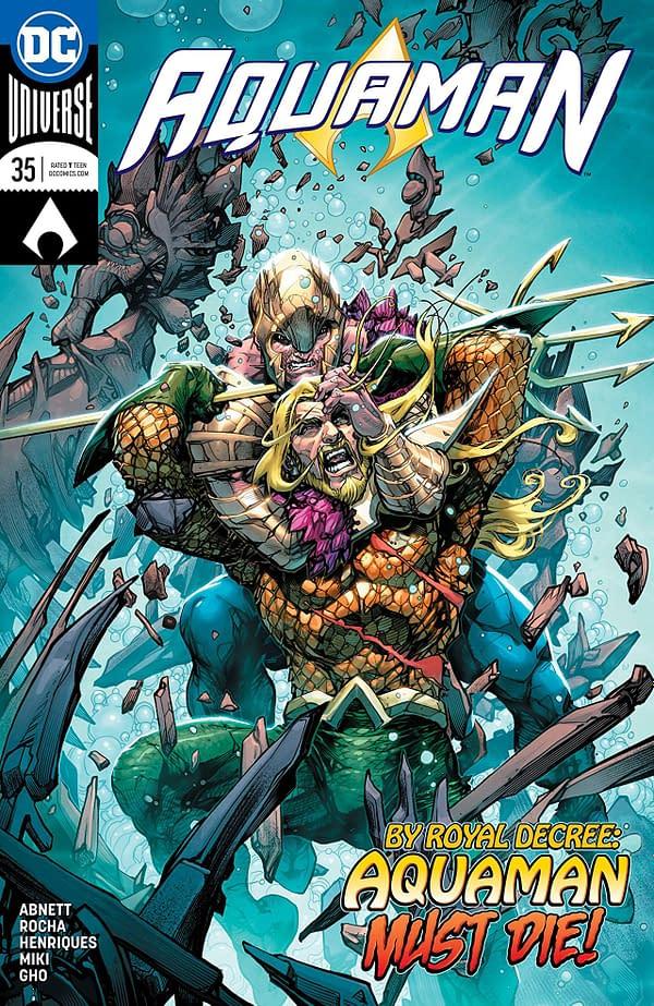 Aquaman #35 cover by Howard Porter and Hi-Fi