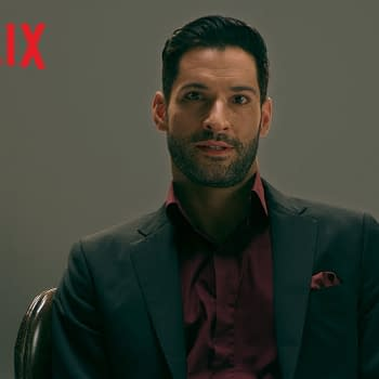 Tom Ellis is Lucifer, courtesy of Netflix.