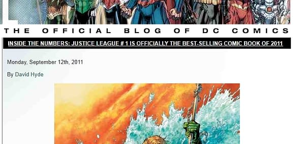 Justice League #1 Is Not The Best Selling Comic Of 2011